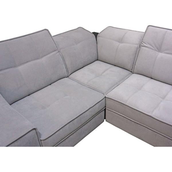 """Модульный диван кровать """"Неаполь 11 (П1+ПС+УС+Д2+Д5+П2)"""" + Пуф"""